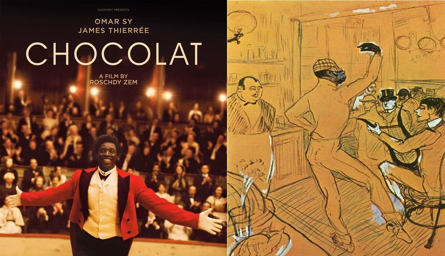 chocolat : Omar Sy - Toulouse Lautrec