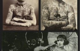 Victorian tattooed circus ladies