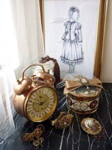 Croquis d'une création steampunk par La Marquise de Say